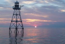 Tennessee Reef Lighthouse at sunset Photo