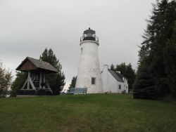 Old Presque Isle Lighthouse built in 1840 Photo