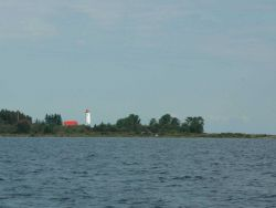 Thunder Bay Lighthouse seen in the distance Photo