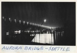 The Aurora Bridge (also known as the George Washington Memorial Bridge) at night Photo