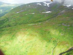 Aerial view of interior mountains on Kodiak Island Photo