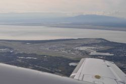 Departing Anchorage Airport on small plane for Dutch Harbor in the Aleutian Islands. Photo