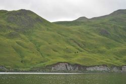 The volcanic hills of Dutch Harbor Photo