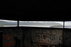 The view from the World War II lookout bunker above the town of Dutch Harbor. Photo