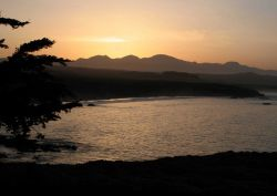 Sunrise over the mountains near the central California coast. Photo