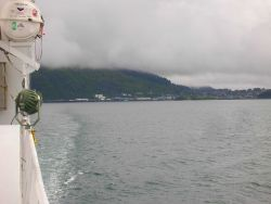 Departing Kodiak on the NOAA Ship OSCAR DYSON. Photo