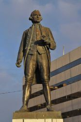Statue of Captain James Cook at the Hotel Captain Cook in downtown Anchorage. Photo