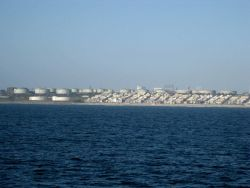 El Segundo Chevron refinery seen from sea. Photo