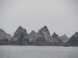 The rock formations known as the Devil's Teeth at the Farallon Islands. Photo