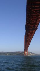 Passing under the Golden Gate Bridge looking to the south. Photo