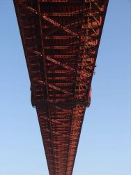 Directly under the Golden Gate Bridge. Photo