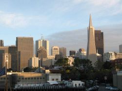San Francisco Skyline dominated by Trans-America Pyramid. Photo