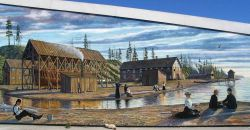 A mural at Port Angeles on the Straits of Juan de Fuca. Photo