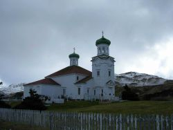The Russian Orthodox Church at Dutch Harbor. Photo