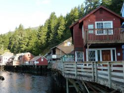 Creek Street in Ketchikan during daylight hours. Photo