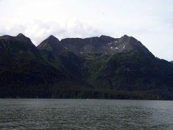 Glacial cirque in the mountains above Cordova Photo
