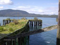 An old dilapidated pier at Cordova. Photo