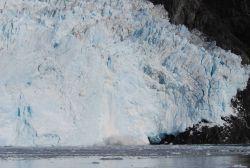 Calving at glacier terminus. Photo