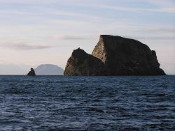 Offshore rocks or small islands? A scene in the Shumagin Islands. Photo