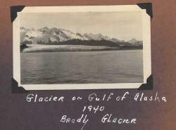 Identified as Bradly (Brady?) Glacier on the Gulf of Alaska. Photo