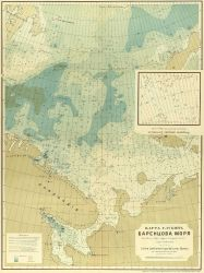 A Russian map of the Barents Sea by L Photo