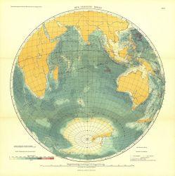 A 1912 map of the Indian Ocean in Tiefenkarten der Ozeane mit Erlauterungen by Max Groll Photo