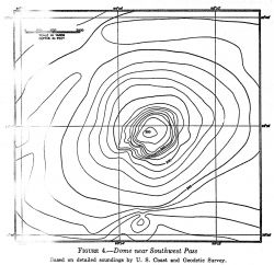 A single salt dome off Southwest Pass of the Mississippi River discovered by the Coast and Geodetic Survey, contoured by Francis Shepard Photo