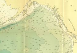 Northeast section of 1939 North Pacific chart 5486 by Navy Hydrographic Office showing few of the seamounts surveyed by the C&GS during the years 1925 Photo