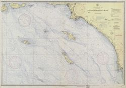 C&GS Chart 5101A, 1939, a prototype chart incorporating bathymetry acquired with RAR navigation by the C&GS out to oceanic depths Photo