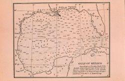 Gulf of Mexico bathymetric map ca Photo