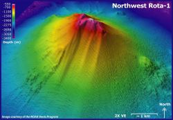 3-D view of Northwest Rota Volcano. Photo