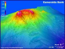 3-D view of Esmeralda Bank. Photo