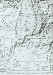 Section of Bathymetric Chart of the Northwest Pacific showing area aound Mariana Trench Photo