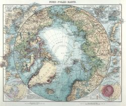 A German map of the Arctic Ocean showing the state of geographic knowledge of the Arctic region as a result of expeditions up to the FRAM Photo