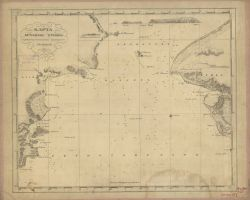 Russian Chart of Bering Strait showing Cape Prince of Wales and Port Clarence area Photo