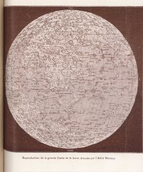 Reproduction of the large map of the moon by the Abbe Moreux Photo