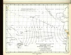 A tsunami time-travel map by Ferdinand Hochstetter published in Petermann's Geographische for the Arica, Peru, earthquake ( 8.5 to 9.0 magnitude) of A Photo