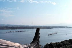 Qiantang River mouth at Hangzhou. Photo