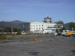 Airport control tower at Vladivostok. Image