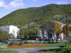 A park scene in Vladivostok. Image