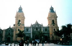 A cathedral in Lima. Image