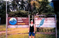 A crewman from the McARTHUR sight-seeing at Isla Gorgona. Photo