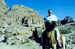 Ben Mieremet riding a camel. Photo