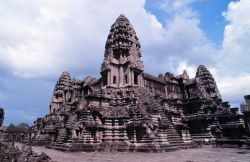 The temple at Angkor Wat Photo