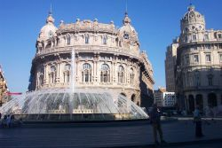 A fountain in Genoa. Photo