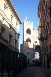A narrow street in Genoa. Image