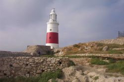 The Europa Point Lighthouse at Gibraltar. Photo