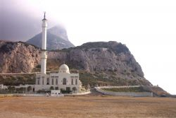 The mosque at Point Europa on Gibraltar. Photo