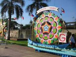A celebratory float for a parade to be held at Rizal Park. Image