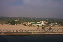 A scene along the Suez Canal. Image